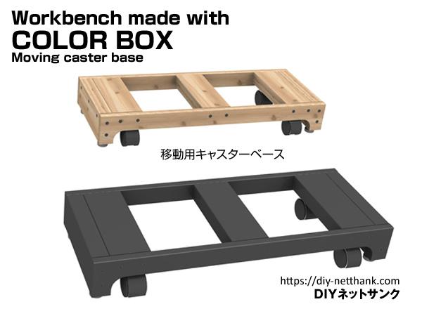 移動用キャスターベースの黒塗装の説明図