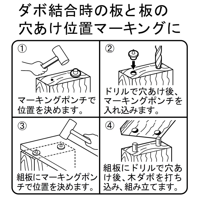 出典画像:新潟精機 SK マーキングポンチ ダボ用 10mm