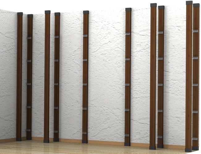 ⑤ディアウォール支柱を室内に立てて設置-2
