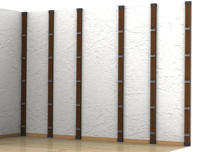 ⑤ディアウォール支柱を室内に立てて設置-1