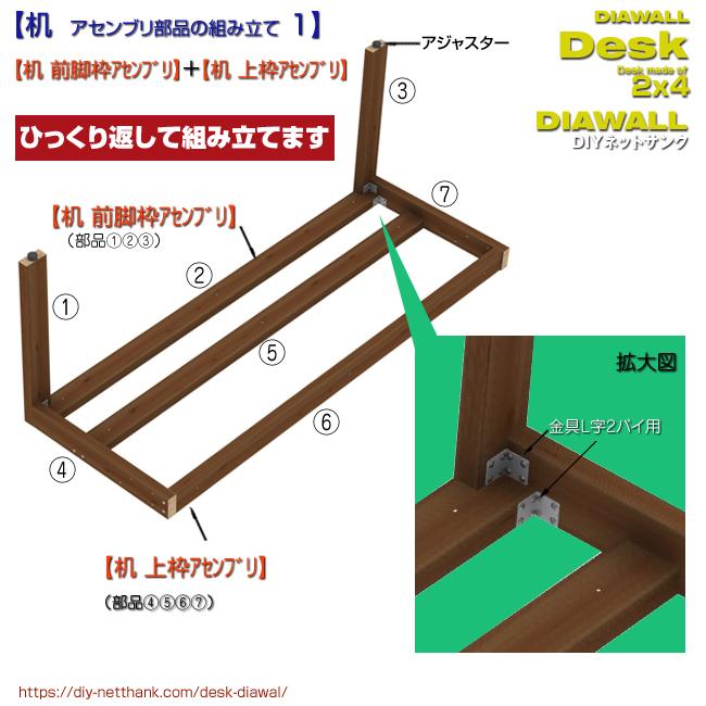 机アセンブリ部品の組み立て 1